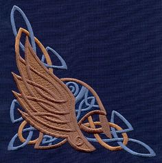 Nordic Majesty Winged Helmet Corner | Urban Threads: Unique and Awesome Embroidery Designs