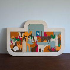 Wooden Puzzle: Noah's Ark Mod Animals | Shop Merci Milo