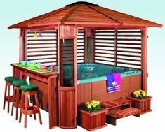 Hot Tub, Gazebo and bar - I could take one of these.