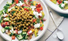 Yotam Ottolenghi's spiced chickpea with fresh vegetable salad recipe