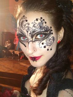 Cool masquerade facepaint
