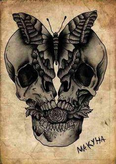 Skull Art by Kostya Makyha ☠️