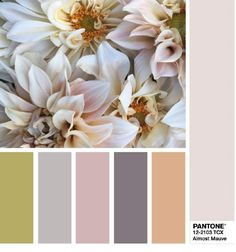 This color palette based on Pantone's top picks for spring 2018 is positively mauve-lous!