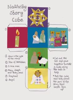 Flame: Creative Children's Ministry: Nativity story cube (full colour or colour-in versions!)