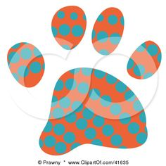 Google Image Result for http://images.clipartof.com/small/41635-Clipart-Illustration-Of-An-Orange-And-Blue-Dot-Patterned-Paw-Print.jpg