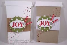 Coffe Cup Gift Card Holder - Stampin' Up! Holly Jolly Greetings