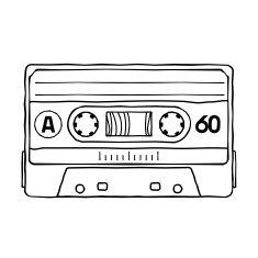 cassettes vector art illustration