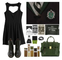 """""""The 4 Houses #4 Slytherin"""" by leah1992 ❤ liked on Polyvore featuring Sixtyseven, Crate and Barrel, 3.1 Phillip Lim, Butter London, Noir Jewelry, slytherin, hogwarts and magic"""