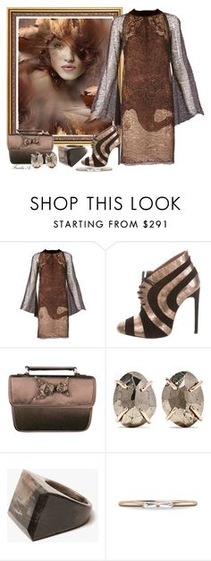 """""""Many Shades Of Brown"""" by freida-adams ❤ liked on Polyvore featuring Jean-Paul Gaultier, Alaïa, Prada, Melissa Joy Manning and Kathleen Whitaker"""