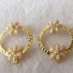 Beautiful handmade hoop earrings, made in India Beautiful handmade floral and hoop earrings. Handmade in India. Handmade in India Jewelry Earrings