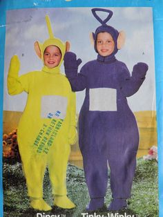 Dipsy ™ and Tinky Winky ™ Teletubbie Play Halloween Costumes Butterick 428 / 5792 Pattern Halloween Costume Patterns, Halloween Costumes, Cool Patterns, Sewing Patterns, Stage Play, Home Based Business, Mittens, Cross Stitch Patterns, Unisex