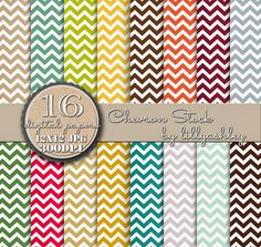Free Digital Paper Freebie Chevron Digital Paper Pack of 16 | make it create