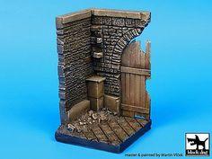 Black Dog Corner with Wooden Gate x (Diorama Base kit) Base Building, Model Building, Plastic Model Kits, Plastic Models, Miniature Bases, Action Figures, Pop Figures, Wooden Gates, Military Diorama