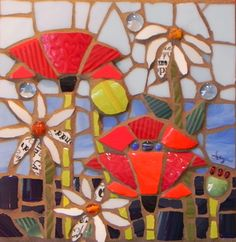 Floral Explosion by Anja Hertle Maplestone Gallery Contemporary Mosaic Art