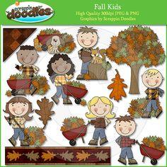 Fall Kids Clip Art