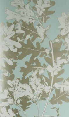 Sherwood Wallpaper - by Osborne and Little Wallpapers Wallpaper Stores, Wallpaper Online, Wall Wallpaper, Oak Leaves, Tree Leaves, Osborne And Little Wallpaper, Geometric Wallpaper, Fabric Design, Prints