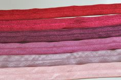 5/8 Fold Over Elastic  Pink Dusty Rose Mauve by CreationsbyLSM, $8.60