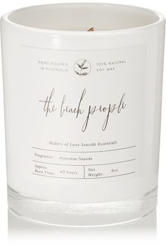 The Beach People - Australian Seaside Scented Candle, 170g - White
