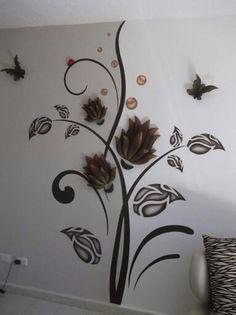 Cool Wall Art, 3d Wall Art, Wall Murals, Creative Wall Decor, Creative Walls, Glass Design, Wall Design, Art Decor, Decoration