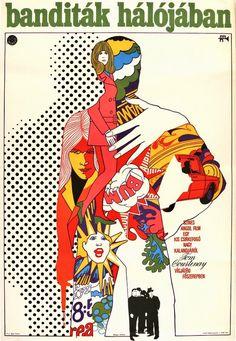 1970, titled Otley.  Pop art style poster from Görög Lajos.