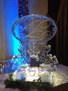 Kld Monogram Martini Luge Ice Sculpture