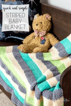 I love a good, easy baby blanket pattern, and one that you can use for stash-busting is great, too. I recently gifted a Garter Stitch Stripe Baby Blanket to some new parents and it has quickly beco…