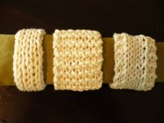 Knitted Napkin Rings - Free Knitting Pattern | Suite101