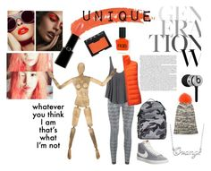 Unique 2 by istyled on Polyvore featuring polyvore, fashion, style, RVCA, Uniqlo, adidas, Yves Salomon, NIKE, Valentino, Fiora, Topshop, Giorgio Armani, NARS Cosmetics, RGB Cosmetics, Beats by Dr. Dre, women's clothing, women's fashion, women, female, woman, misses, juniors, GetTheLook, Unique and grey