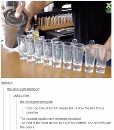 MIND BLOWN And how to ombre your drunk brunch. | 17 Times Tumblr Explained A Thing Better Than School