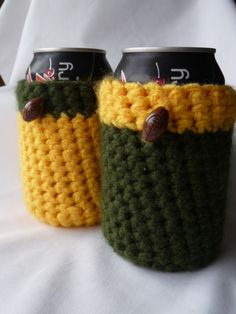 Making some more of these right now - Packers coozies!
