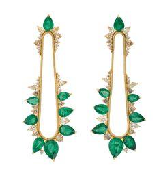 Gemfields' Fernando Jorge earrings with 11ct of Zambian emeralds and diamonds
