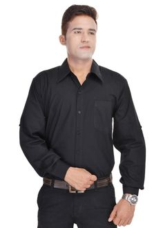 Kalrav Fashion Black Cotton Shirt