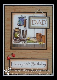 The Potting Shed, finished with stickles and Glossy Accents Birthday Cards For Men, Dad Birthday, Birthday Ideas, Man Shed, Embossed Cards, Fathers Day Cards, Garden Theme, Masculine Cards, I Card