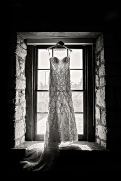 Wedding dress in window at Cambridge Mill - Melissa Avey Photography Cambridge Mill, Cambridge Ontario, Mill Falls, Autumn Wedding, Rebel, Photo Ideas, Red And White, Wedding Photos, Wedding Inspiration