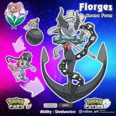 Congratulations! Your Floette has evolved into Florges! Ananian Floette has two methods of evolution; by simply exposed to Dusk Stone, or by leveled up with Dhelmise in the party. If it evolves by the second method, it will also learn the signature move of Dhelmise; Anchor Shot. As a Florges, it becomes calmer. Though, it retains its devilish quality. Ananian Florges has Drag as its Hidden Ability. With this ability, Attract move will never fail regardless of target's gender! SWIPE to see…