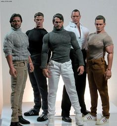 Celebrity Male Action Figures, via Hot Toys.
