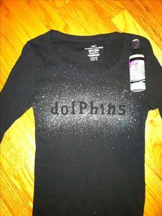 DIY sparkly school shirts!
