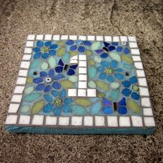 Mosaic Vintage Fabric Look House Number Address Home by JoSaraUK