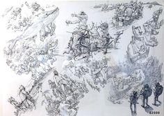 Kim JungGi creating a story from start to finish on one page^^ Junggi Kim, Figure Drawing Models, Roman, Robot Illustration, Kim Jung, Korean Artist, Conceptual Art, Cool Drawings, Original Artwork