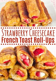 French Toast Roll Ups, Nutella French Toast, Make French Toast, Cinnamon French Toast, French Toast Recipes, Strawberry Roll Ups, Strawberry French Toast, Strawberry Cheesecake, Strawberry Breakfast