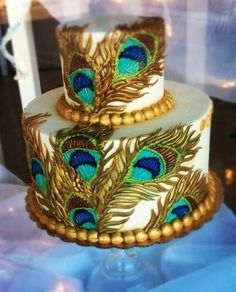 Peacock Cake  Birthday Cake Photos Cakes Pinterest Peacock - Peacock birthday cake