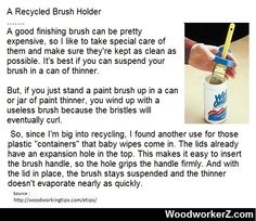 Recycled Brush Holder | WoodworkerZ.com