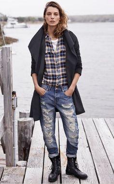 fashionable patterns + denim = perfect match