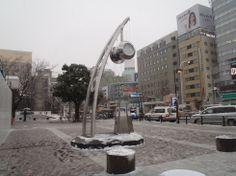 雪の名古屋駅