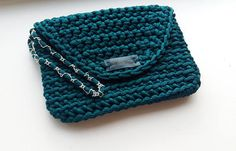 crochet clutch crochet purse handmade handbag rope clutch