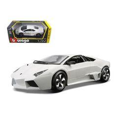 Lamborghini Reventon Matt White 1/24 Diecast Model Car by Bburago