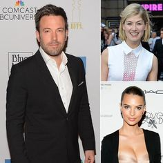 Ben as Nick, Rosamund as Amy, Emily as Andie. Great casting!!