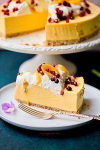 No bake mango cheesecake Sweet Desserts, No Bake Desserts, Sweet Recipes, Delicious Desserts, Snack Recipes, Dessert Recipes, Yummy Food, Snacks, Mango Cheesecake