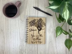 Bamboo Spiral Notebook with name engraving. Yoga, nature, lifestyle Good Luck To You, Flower Girl Gifts, Bride Gifts, Special Gifts, Are You Happy, Collaboration, Spiral, Diy Ideas, Bamboo
