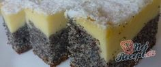 Poppy seed cake with curd cheese Top-Rezepte.de - It is a simple delicious poppy seed cake with a layer of curd cheese. The curd cream is distributed - Quark Recipes, Cheesecake Recipes, Baking Recipes, Pudding Desserts, Dessert Recipes, Sopapilla Cheesecake Bars, Poppy Seed Cake, Dessert Bars, Dessert Food